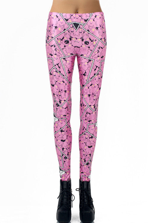 Lovely Pink Sheep Leggings