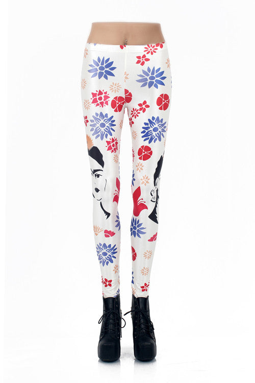 Leggings - Floral Digital Print Leggings - Epic Leggings