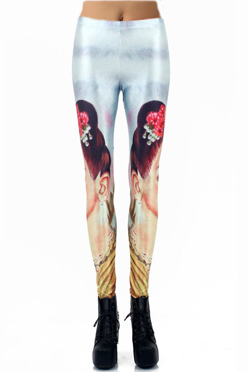 Leggings - Character Digital Print Stretch Leggings - Epic Leggings