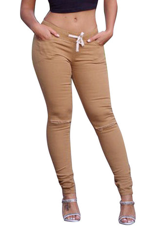 Leggings - Casual Khaki Leggings - Epic Leggings