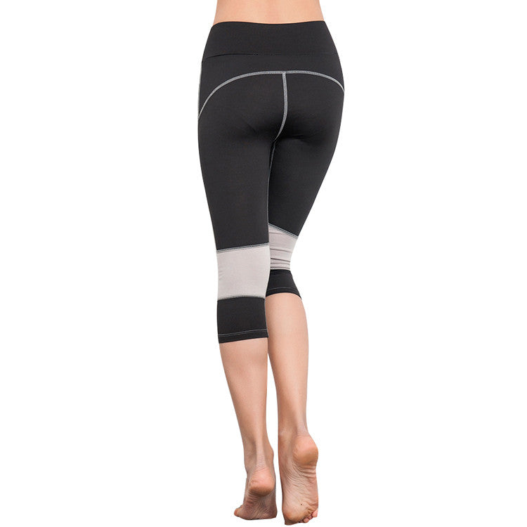 Leggings - Black and Grey Knee Sports Leggings - Epic Leggings