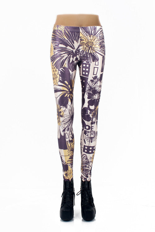 Leggings - Girls Printed Seamless Colorful Fashion Leggings - Epic Leggings