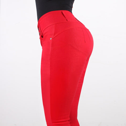 Sexy Red Tight Jeans