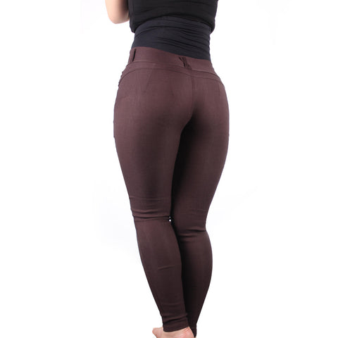 Leggings - Sexy Brown Tight Jeans - Epic Leggings