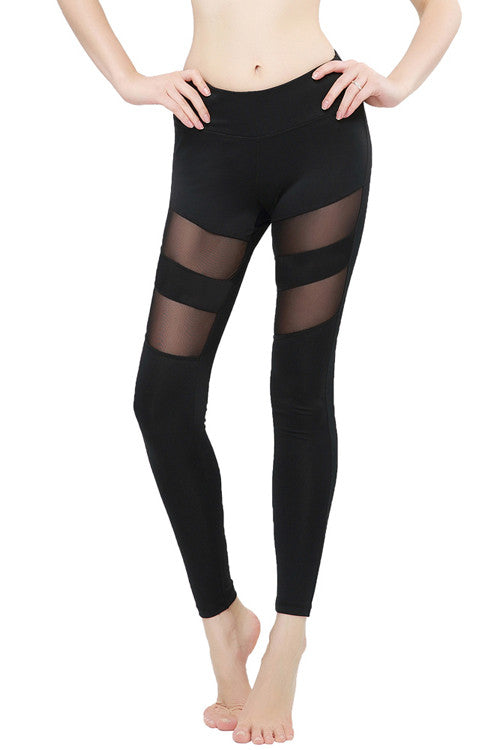 Leggings - Mesh Panels Stretchy Yoga Leggings - Epic Leggings