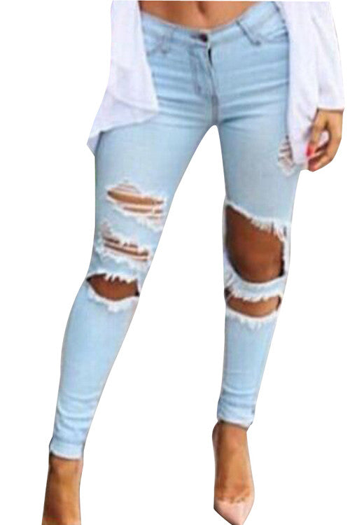 Leggings - Light Blue Jeans - Epic Leggings