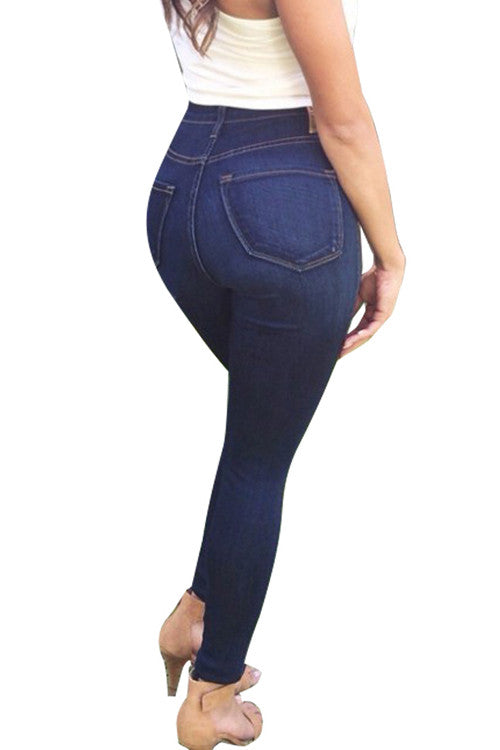 Leggings - Dark Blue Push Up Jeans - Epic Leggings