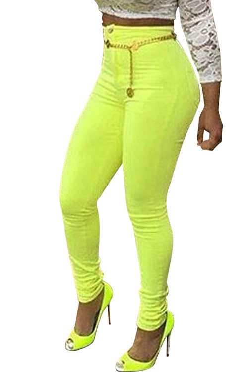 Yellow Push Up Jeans