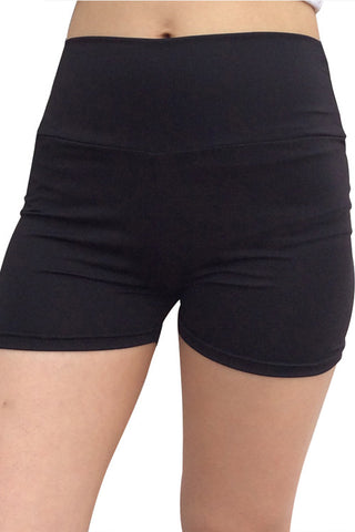 Leggings - Black Fitness Gym Shorts - Epic Leggings