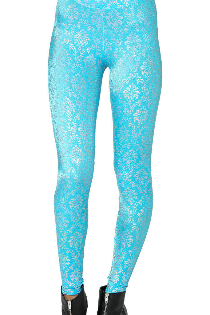 Leggings - Blue Retro Pattern Sexy Leggings - Epic Leggings