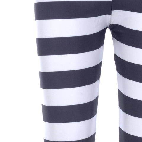 Leggings - Black And White Striped Leggings - Epic Leggings