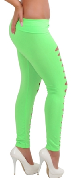 Leggings - Green Cut Out Leggings - Epic Leggings