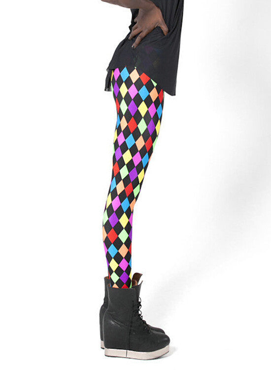Leggings - In Spring Of Star And Fluorescent Color Diamond Sexy - Epic Leggings