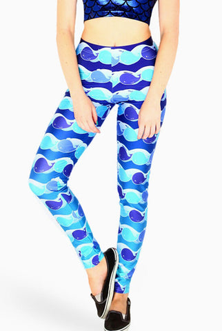 Leggings - Blue Whale Sexy Tight Leggings - Epic Leggings