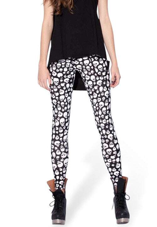 Small Abundant Skull Leggings