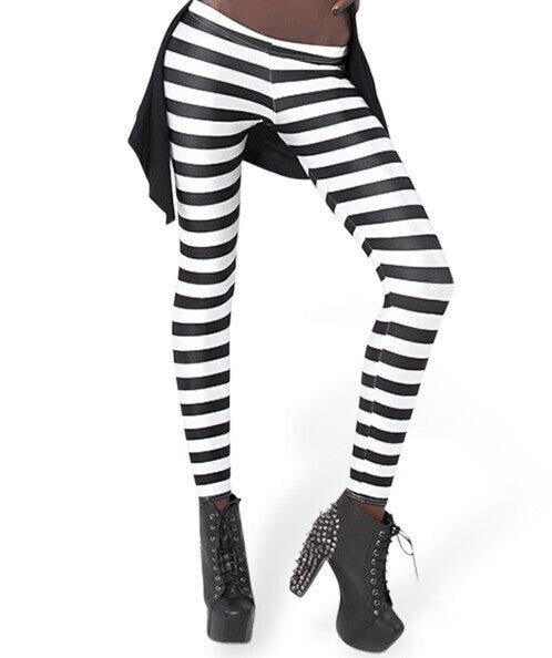 Black and white striped leggings Nude Photos 45