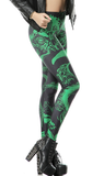 Leggings - Black and Green Fashion Leggings - Epic Leggings