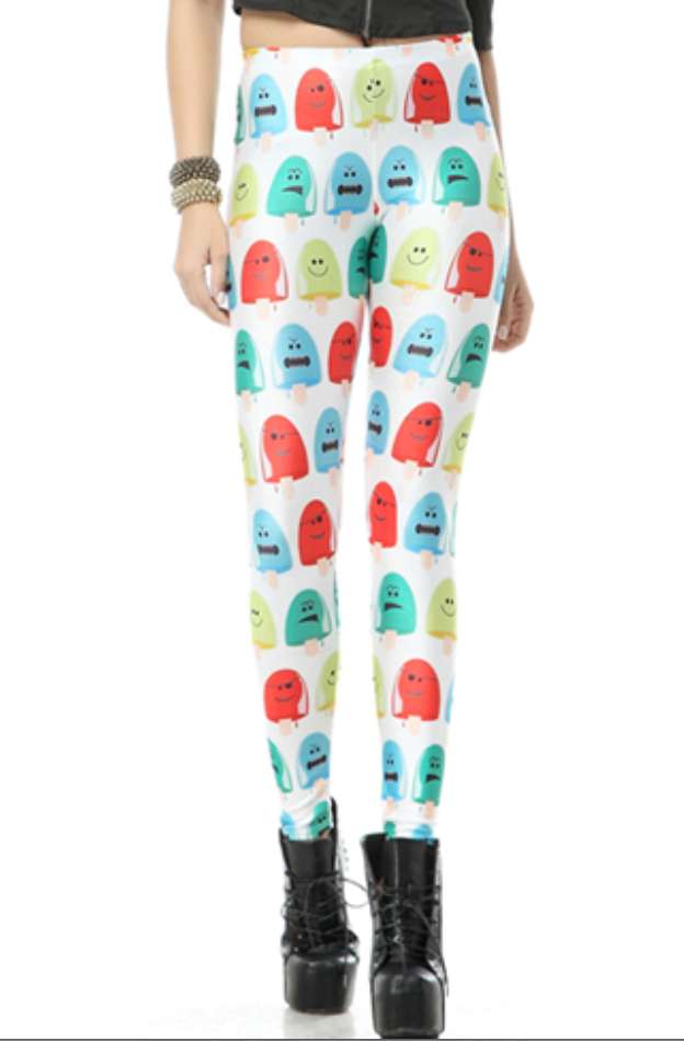 Leggings - Popsicle Print Leggings - Epic Leggings
