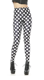 Leggings - Black and White Polka Dot Leggings - Epic Leggings