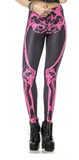 Leggings - Pink and Black Bone Print Leggings - Epic Leggings