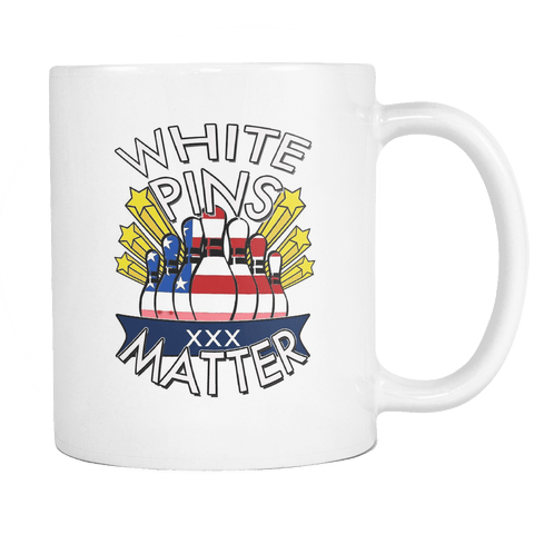 Black/White Pins Matter Mugs