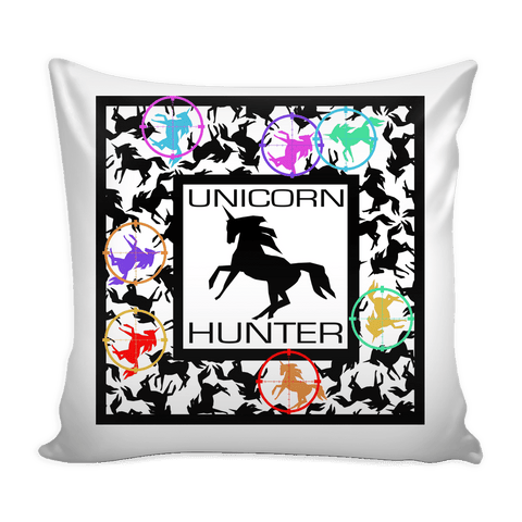 Unicorn Hunter Pillow - Black Unicorn