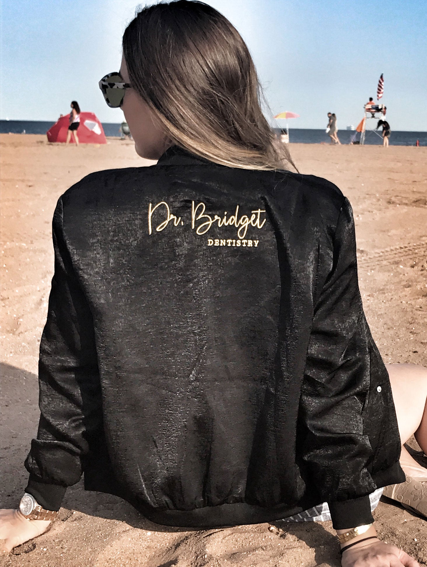 05ddf0f04b632 Custom Thin Satin Bomber Jacket