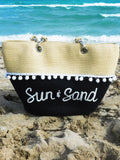Custom Two Tone Beach Bag
