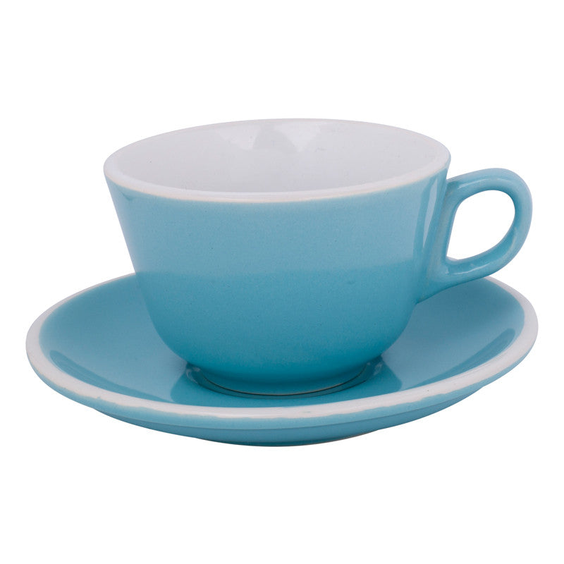 6x 180ml Flat White Cup & Saucer Plain $7.25 Each
