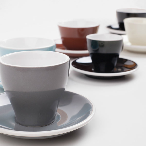 6x 180ml Tulip Cup & Saucer Plain $7.25 Each