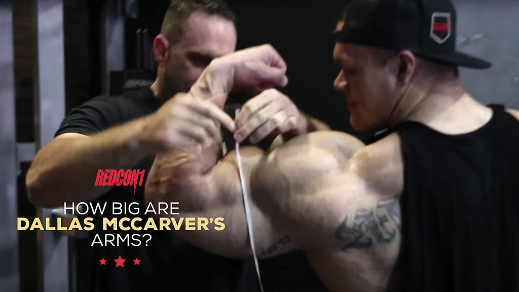 How Big are Dallas McCarver's Arms?