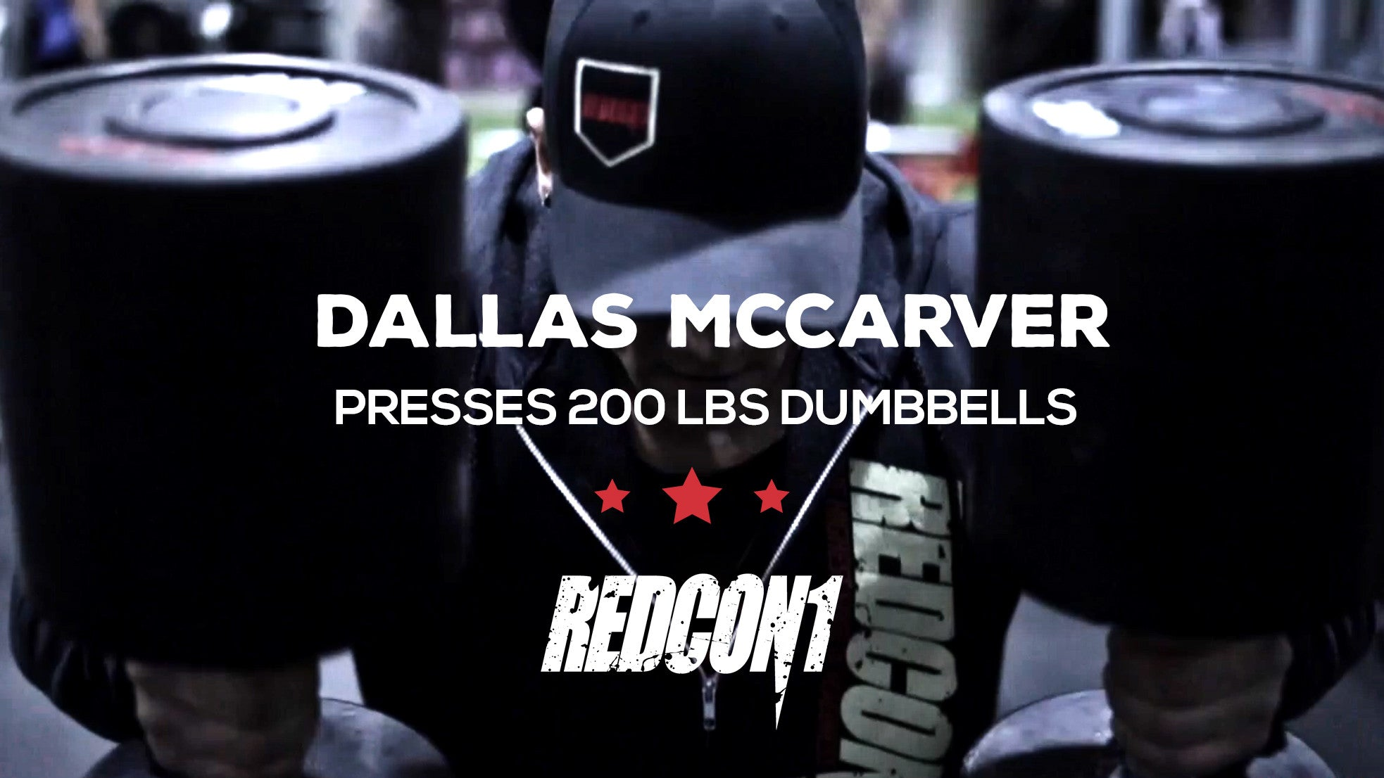 Dallas McCarver Presses 200Lbs Dumbbells