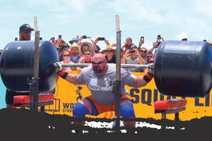Redcon1 Athlete Brian Shaw competes in 2019 World's Strongest Man competition