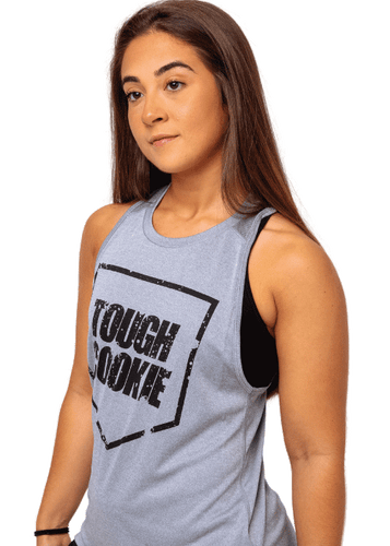 Women's Tough Cookie Tank Grey