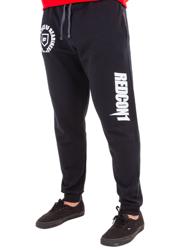 Black Thsor Stamp Joggers