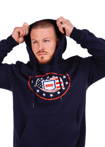 Navy Blue Freedom Pullover Hoodie