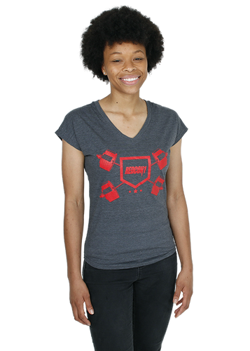 Womens Shield V-Neck