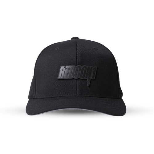 Series 2: Blackout Leather Patch On Flex Fit Hat