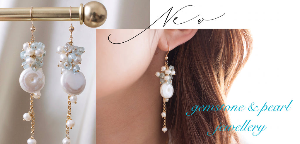 Gemstone and pearls jewellery