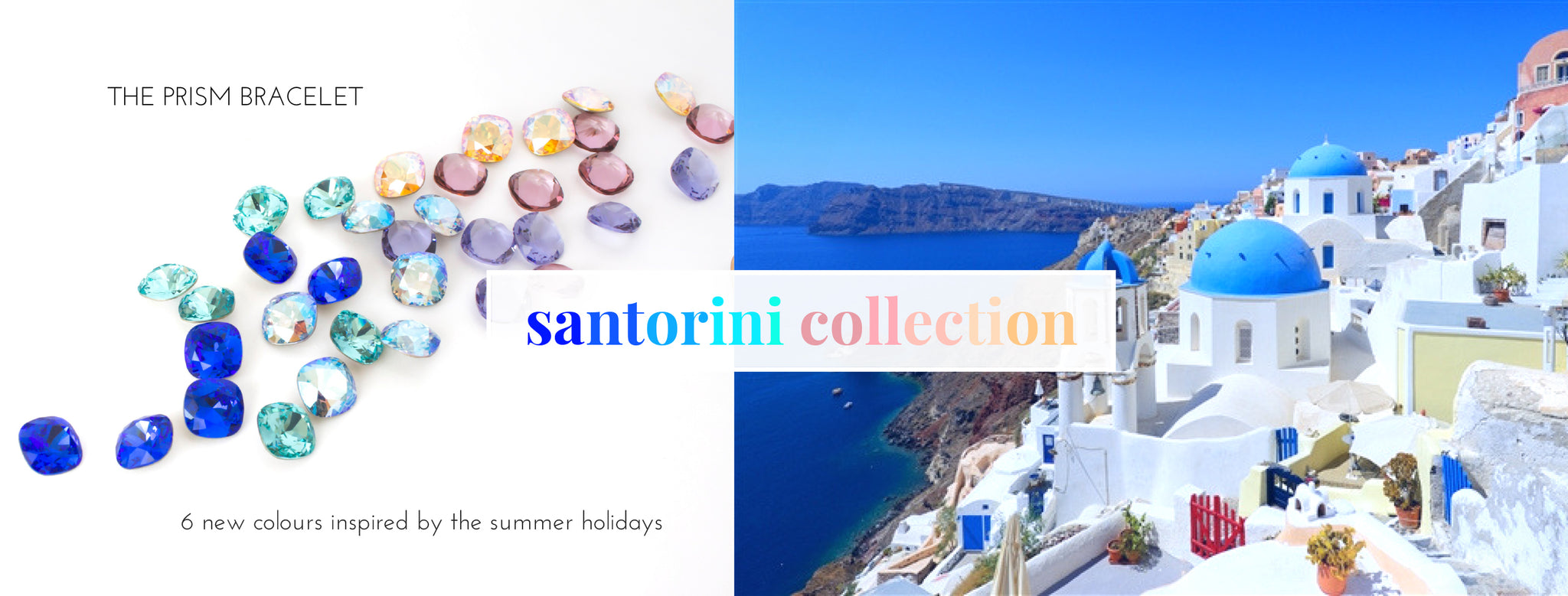 Swarovski Crystal Prism Bracelet Santorini Collection. International Shipping