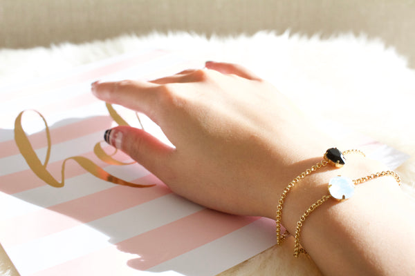 Cissy's 14k gold filled crystal bracelet