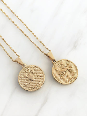 Trendy Gold Zodiac Pendant, Cissy's, International Shipping