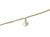 Pearl Drop Gold Bracelet, 14K Gold Filled, Free Shipping