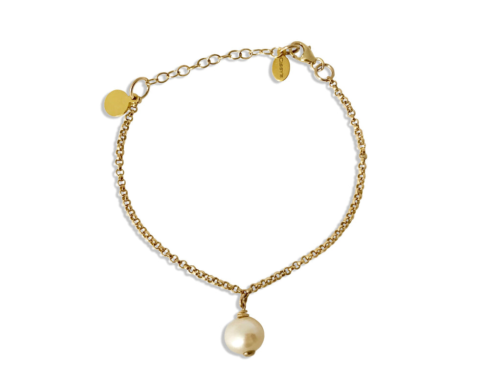Pear Drop Gold Bracelet