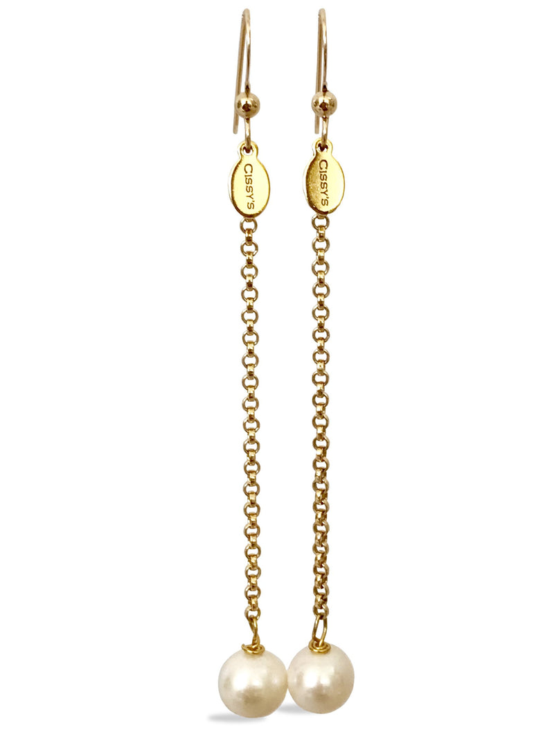 Freshwater Pearl 14K Gold Filled Drop Earrings - Cissy's Jewelry