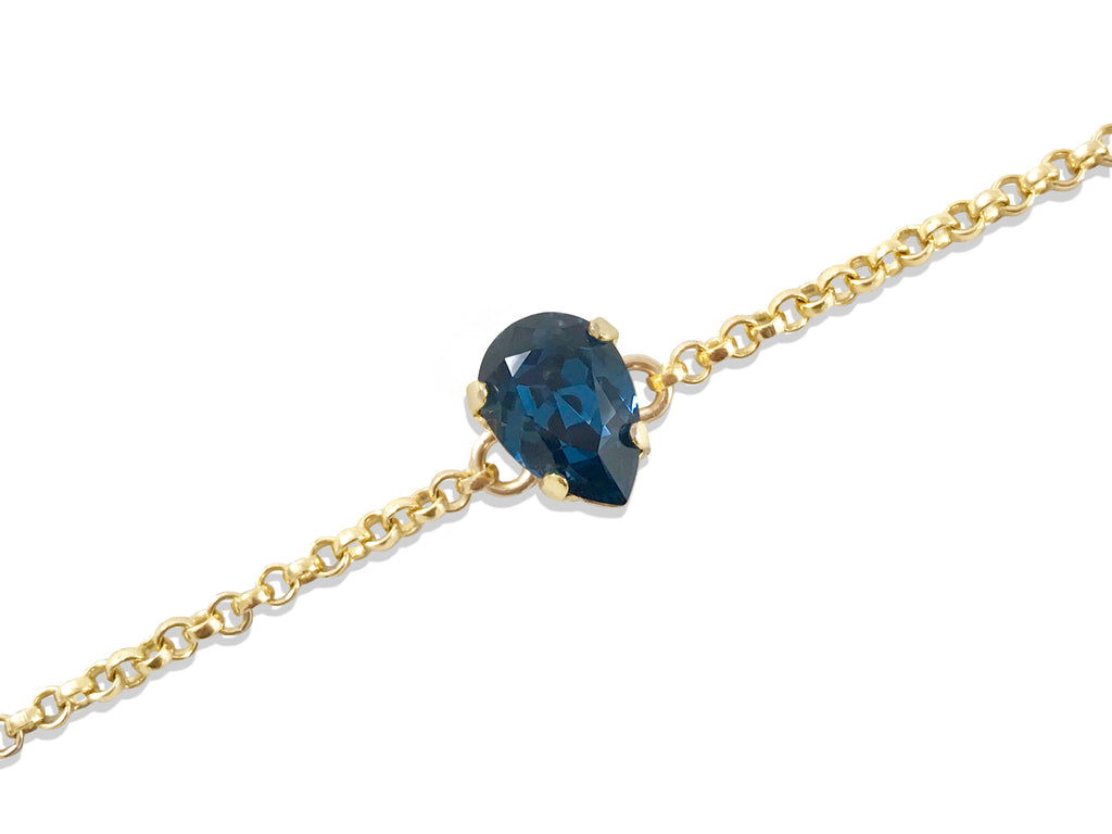 Navy Blue Swarovski® Crystal 14K Gold Filled Bracelet - Toronto Handcrafted