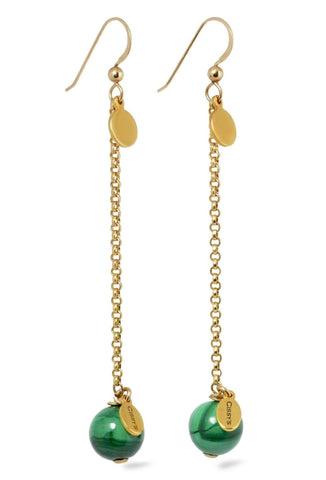 Malachite 14K Gold Filled Drop Earrings - $65 CAN, International Shipping
