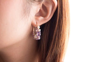 Lara Amethyst & Pearl Earrings