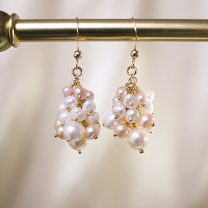 Bubble Pearl Dangle Earrings