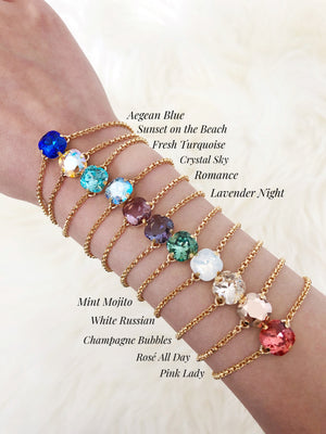 Prism Bracelet Santorini Collection - Crystal Sky - Cissy's Jewelry